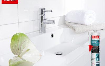 Cauti siliconul sanitar cel mai potrivit? Incearca Kitchen & Bath Fresh, rezistent la mucegai, oferit de PENOSIL